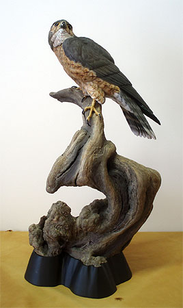 Richardson Merlin carving by Al Jordan