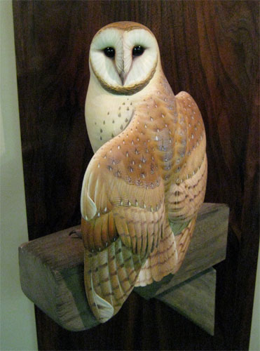Barn Owl carving by Josh Brewer
