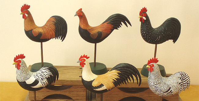 Chickens by Manfred Scheel